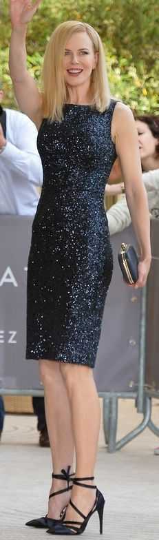 Kidmans in Cannes! With the Cannes Film Festival kicking off imminently, juror Nicole Kidman arrived at the Martinez Hotel in Cannes, France May Nicole Kidman, Audrey Tautou, Celebrity Pictures, Celebrity Style, Divas, Blue Sequin Dress, Dress Black, Dior Dress, Palais Des Festivals