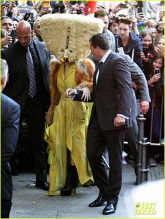 Lady Gaga wore a really weird look yesterday in Berlin.