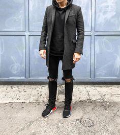 #ootd #ootdmen #street #streetstyle #stylemen #look #style #fashion #fashionista #men #menswear #menstyle #mensstyle #menfashion #mensfashion #simplefits #instafashion #mode #denim #outfitoftheday #coat #greycoat #thekooples #supreme #adidas #nmd #hoodie #nmdog #sneakers #og