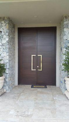 House Main Door Design, Wooden Front Door Design, Double Door Design, Door Design Interior, Wooden Doors, Modern Entrance Door, Main Entrance Door Design, Modern Exterior Doors, Modern Entryway