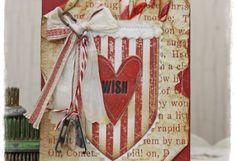 Tammy Tutterow Tim Holtz Idea-ology Sizzix Wish Pocket Christmas Card