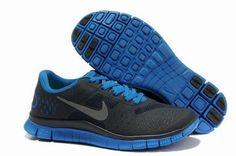 Nike Free 4.0 V2 Mens Running Shoes Dark Obsidian/Reflect Silver-Soar