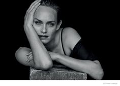 AMBER VALLETTA STUNS IN BLACK & WHITE PHOTOS BY PETER LINDBERGH FOR ZEIT Feb 2015