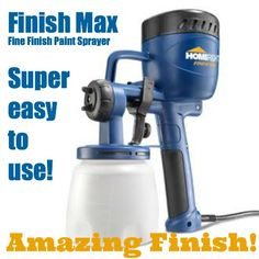 HomeRight Finish Max Handheld HVLP Paint Sprayer at Lowe's. Whether you're looking for a quality paint sprayer, are an avid Do-It-Yourselfer, or simply want to paint the easy and fun way, the Finish Max is for you! Best Paint Sprayer, Hvlp Paint Sprayer, Using A Paint Sprayer, Paint Sprayers, Painting Tools, Spray Painting, House Painting, Painting Wicker, Outdoor Painting