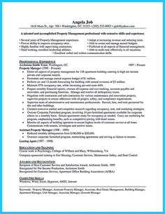 awesome writing a great assistant property manager resume check more at http - Apartment Manager Resume
