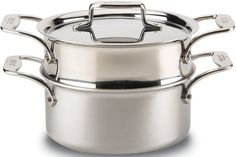 Amazon.com: All-Clad BD55303 D5 Brushed Stainless Steel 5-Ply Bonded Dishwasher Safe Casserole with Lid and Steamer / Cookware, 3-Quart, Silver: Kitchen & Dining