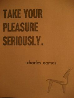 pleasure | seriously