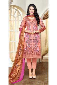 Office Wear Pink Satin Cotton Salwar Suit - 16897