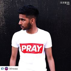 MUSLIM GIFT GUIDE | CURATOR PICK #7 | IKHWAA | PRAY SHIRT | This shirt from @ikhwaa is on point! Sometimes simple messages speak the loudest & this bold PRAY t-shirt is a typographic megaphone!! Be it a reminder for yourself or others this contemporary shirt, available in long & short sleeves is bound to turn heads. #muslimgiftguide #ikhwaa #muslamb #eidgift #salat #islamisbeautiful #ukmuslims #umma @petergouldart muslimgiftguide.com