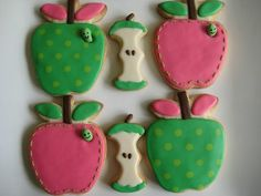 Manzanas. Apples. Cookies. Baby shower, party theme