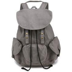Rivet Embellished Backpack ($22) ❤ liked on Polyvore featuring bags, backpacks, rucksack bags, knapsack bag, decorating bags, day pack backpack and backpack bags