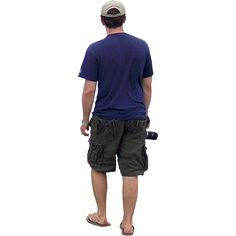 Background removed on this PNG file of a man walking on a hot day and carrying his camera.