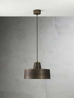 An iron suspension lamp. Thanks Il Fanale!
