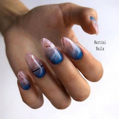 Glamorous And Stylish Blue Nails Design - Vida Joven Nail Design Stiletto, Nail Design Glitter, Perfect Nails, Gorgeous Nails, Nagellack Trends, Aycrlic Nails, Fire Nails, Manicure E Pedicure, Manicure Ideas