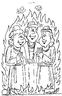 daniel fiery furnace coloring pages - photo#22