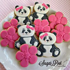 Lots of Panda Sugar Cookies