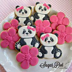 Lots of Panda Sugar Cookies