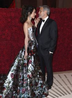 Amal and George Clooney at the 2018 Met Gala | POPSUGAR Celebrity