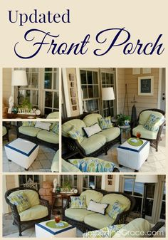 Front porch updates including lots of DIY projects @ ImpartingGrace.com