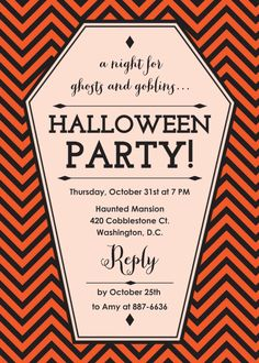 New Halloween Party Invitations