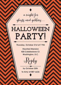 New Halloween Party Invitations