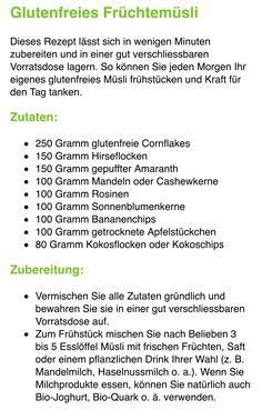 Glutenfreies Früchtemüsli