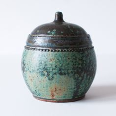 Ancient Turquoise Jar Stoneware Small by DiTerra on Etsy