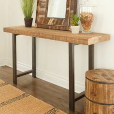 Wooden Slab Console | west elm