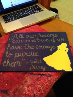 Belle Quote Canvas  getcraftywithit.com