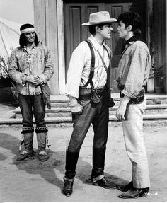 "Joey Bishop, Dean Martin &  Alain Delon in ""Texas Across the River"" (1966)"