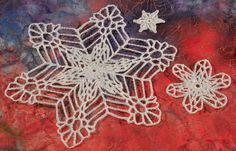 Endless free crochet snowflake patterns can be found here: http://www.crochetpatterncentral.com/directory/snowflakes.php