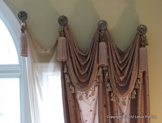 Homestyle Draperies, Art for your Window! Everyday Artist: Two-Story Window Treatment - Revealed! Curtains With Blinds, Two Story Windows, Windows, Window Styles, Drapes Curtains, Curtains, Custom Drapery, Curtain Designs, Window Treatments