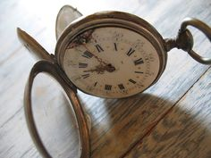 Antique French silver pocket watch by HOPEFRENCHVINTAGE on Etsy, €65.00