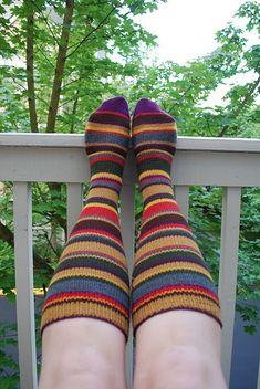 Ravelry: Dr. Who Scarf Knee-High Socks pattern by Lesley Brownlee