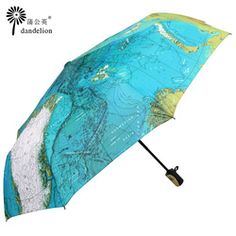 World map print umbrella