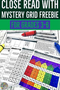Get students excited about close reading with this fun mystery grid activity. Students practice reading and finding the answers to text dependent questions. Then, when they are finished they can use those answers to color the mystery grid!  Also includes graphics organizer and writing prompt.