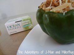 Tuna and Brown Rice Stuffed Peppers Recipe!