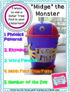 How to use this Dollar Tree buy in your primary classroom! {Freebie included in post}