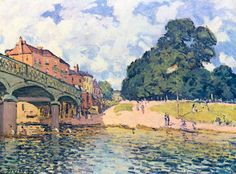 Pont à Hampton Court. Alfred Sisley