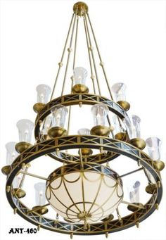 Marvelous Giant Chandeliers from the Petroleum Club,  Houston, Texas (ANT-460)
