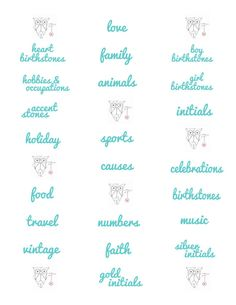 PRINTED Origami Owl Charm Labels- Aqua, message me for other colors-Ships for FREE on Etsy, $6.00