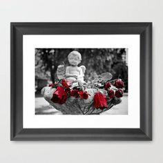 Graveyard roses Framed Art Print by Vorona Photography   Society6