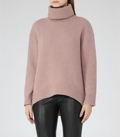The perfect Roll neck! (Alex loves A) Jumpers For Women, Sweaters For Women, Roll Neck Jumpers, Reiss, New Wardrobe, Who What Wear, Knitwear, High Low, Celebrity Style