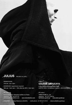 "Julius FW2013 presentation invitation Stealth"" /> <..."