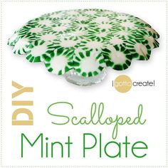 Make an edible plate out of starlight peppermints for the holidays! Check out the #peppermint platter tutorial at I Gotta Create