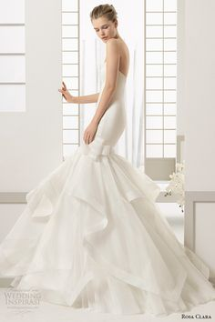 rosa clara 2016 bridal collection strapless straight across mermaid wedding dress darlen side