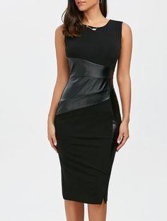 Leather Tea Length Dress