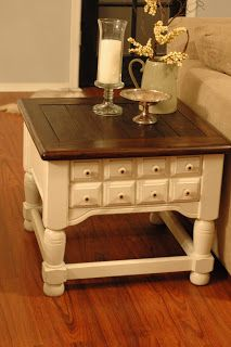 Sweet Passions on a Thrifty Dime: End Table.. finished.. well Refinished!