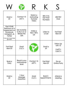 It Works Bingo
