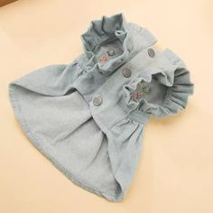cat clothes Hipidog Embroidery Dog Clothes Cat Jeans Denim Dress Pet Flower Sleeves Clothes Apparel Costume XS-XL for Small Dog Chihuahua Cute Dog Clothes, Small Dog Clothes, Girl Dog Clothes, Dress Clothes, Flower Sleeve, Art Vintage, Dog Clothes Patterns, Cat Dresses, Pet Fashion